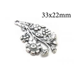 10734s-sterling-silver-925-leaves-and-flowers-pendant-charm-33x22mm.jpg