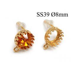 95016-956328b-brass-round-crown-bezel-cup-post-earrings-8mm-with-loop.jpg