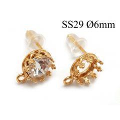 95016-956346b-brass-round-crown-bezel-cup-post-earrings-6mm-with-loop.jpg