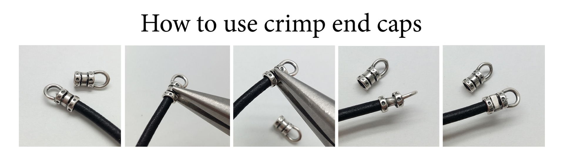 How to use crimp end caps